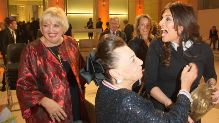Claudia Roth, Alicia und Maria Brauner und Deborah Weigert - Deutscher Hörfilmpreis 2015 Gregor Anthes