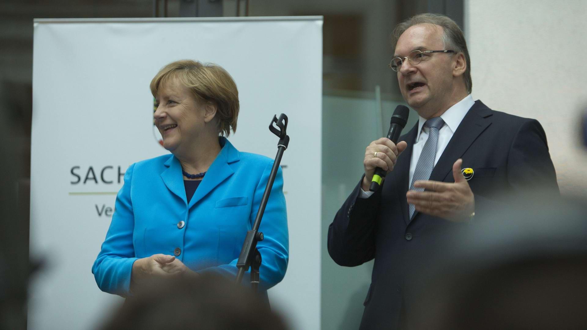 MP Sachsen Anhalt Dr. Reiner Haseloff, Bundeskanlzerin Dr. Angela Merkel Gregor Anthes