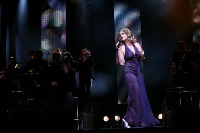 Barbara Schoeneberger Premiere 'Jetzt sing Sie auch noch' in the Tempodrom in Berlin Gregor Anthes